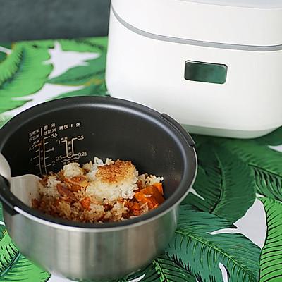 腊肉南瓜焖饭(电饭锅版煲仔饭)