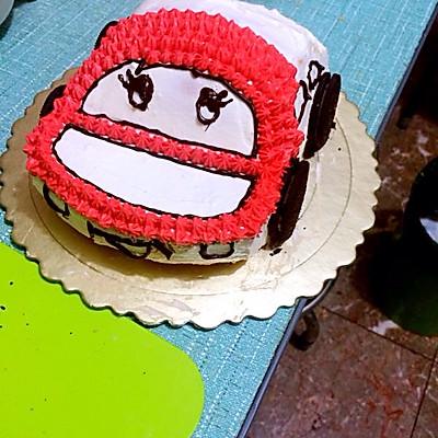 汽车蛋糕的做法 步骤6