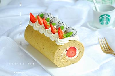 苦荞草莓卷