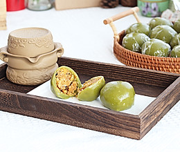 清明节必吃的踏青果,海苔肉松青团的做法