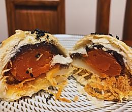 麻薯肉松豆沙蛋黄酥 三层馅料 终极版配方 酥的掉渣的做法