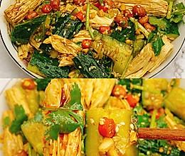 巨好吃的开胃凉拌黄瓜腐竹!零失败的做法