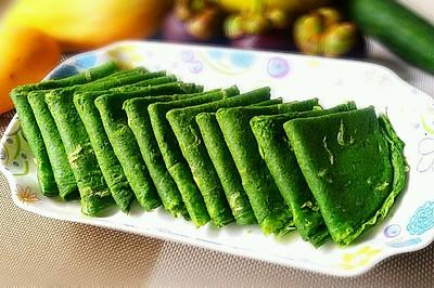 菠菜虾皮蛋饼(我的减肥餐)