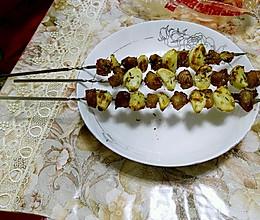 烤蒜瓣猪肉串的做法