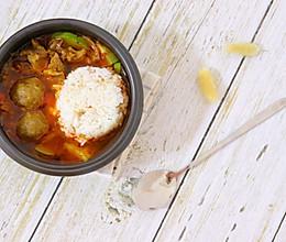 牛肉辣汤饭,牛肉汤要这样吃才够味!的做法