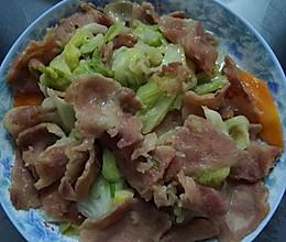 培根炒牛心菜的做法