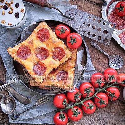 10分钟早餐-吐司片披萨