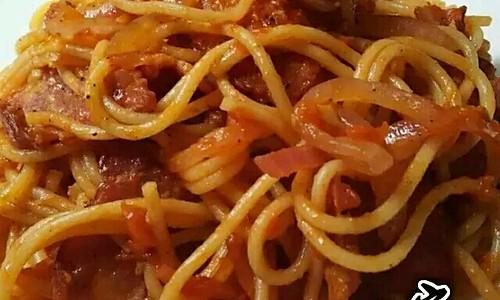 番茄培根意大利面的做法