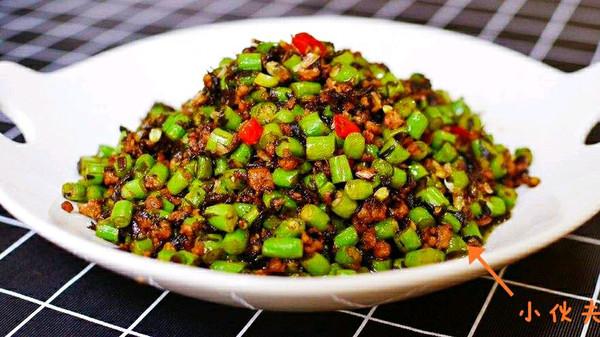 橄榄菜四季豆肉沫,米饭大杀器的做法
