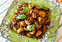 家常小菜—腊味炒蘑菇的做法
