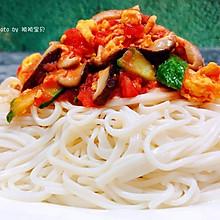 #元宵节美食大赏#香菇黄瓜西红柿鸡蛋面