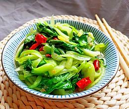 #人人能开小吃店#简单快手家常菜:清炒油菜的做法