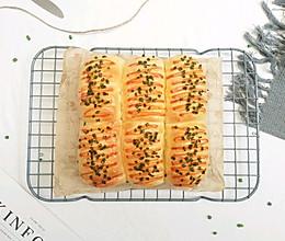 #中秋团圆食味#香葱肉松面包的做法
