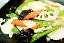 这盘菜让你不自觉地大口吃素——荷塘小炒【微体兔菜谱】的做法