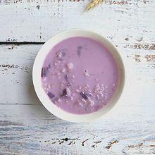 紫薯牛奶燕麦粥
