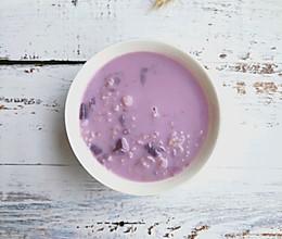紫薯牛奶燕麦粥的做法