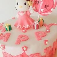 Kitty翻糖蛋糕(二)的做法图解13