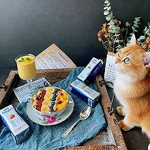 #福气年夜菜#酸奶麦片水果碗+香妃柚芒果奶昔