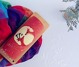 情人节礼物之浓情蜜意麋鹿彩绘蛋糕卷的做法