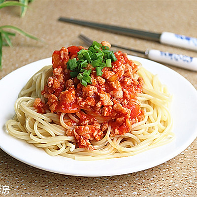 番茄肉酱面