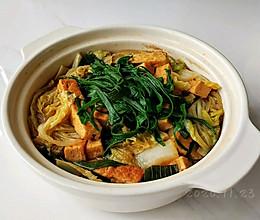 葱油豆腐白菜锅的做法
