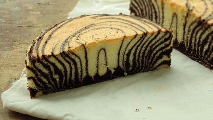 斑马戚风蛋糕(详细过程图解)