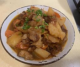 番茄土豆烧牛腩的做法