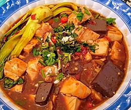 豆腐猪血闷豆腐的做法