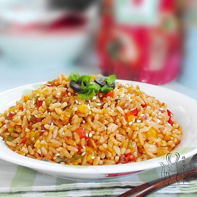 茄汁彩椒炒饭