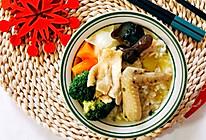 花胶鸡汤捞饭的做法