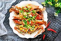 #春季减肥,边吃边瘦#葱油梭子蟹的做法