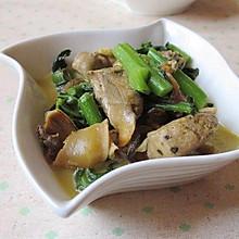 蚌肉烧菜苔