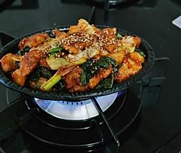 韩式铁板辣炒五花肉的做法