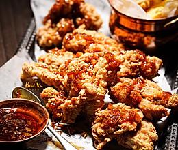 完胜M记/KFC的脆皮炸鸡(蒜香黄油酱+零技术炸薯角)#人人能开小吃店#的做法