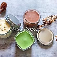 自制冰淇淋—茉莉香草 抹茶乳酪 巧克力坚果