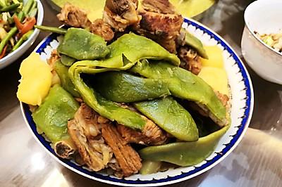红烧排骨炖豆角(家常版)