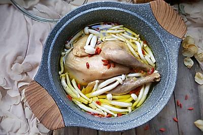菌菇炖鸡汤#甜粽VS咸粽,你是哪一党?#