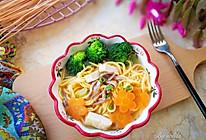 胡萝卜牛肉汤面#柏翠辅食节-营养佐餐#的做法