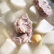 羊排炖萝卜汤