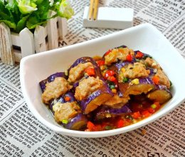 【烧汁酿茄子】做这道菜,多煮点米饭哦的做法