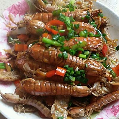 爆炒皮皮虾(濑尿虾)