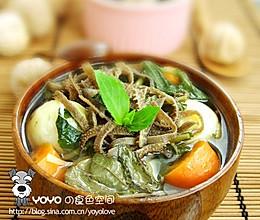 蔬菜羊肚汤的做法