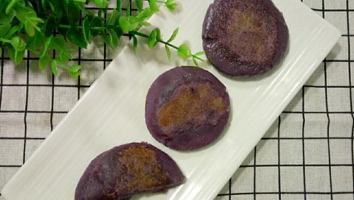 紫薯糯米饼【电饼铛】