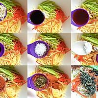 【超快手】麻辣拌三丝#花10分钟,做一道菜!#的做法图解8