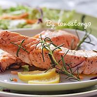 迷迭香煎三文鱼#宜家让家更有味#的做法图解9