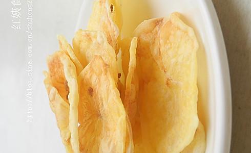 自制无油健康薯片的做法