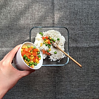 微波火腿什锦菜焗饭的做法图解2
