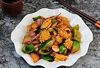 鱿鱼卷爆炒洋葱青辣椒 色香味俱全的快手家常菜的做法