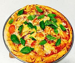【黑厨Jerry】罗勒鲜虾荤食披萨的做法