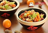胡萝卜西芹拌花生的做法